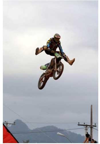 Foto publicada no site www.motox.com.br, o piloto é o Marronzinho, na sua chegada como Campeão Brasileiro MX1 2008